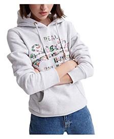 Vintage Inspired Logo Gloss Floral Sweatshirt