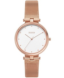 Women's Tanja Rose Gold Stainless Steel Mesh Watch 36mm