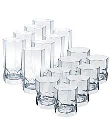 Topaz Tumblers 16 Piece Glassware Set