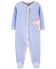 Baby Girls 1-Pc. Hummingbird Cotton Coverall