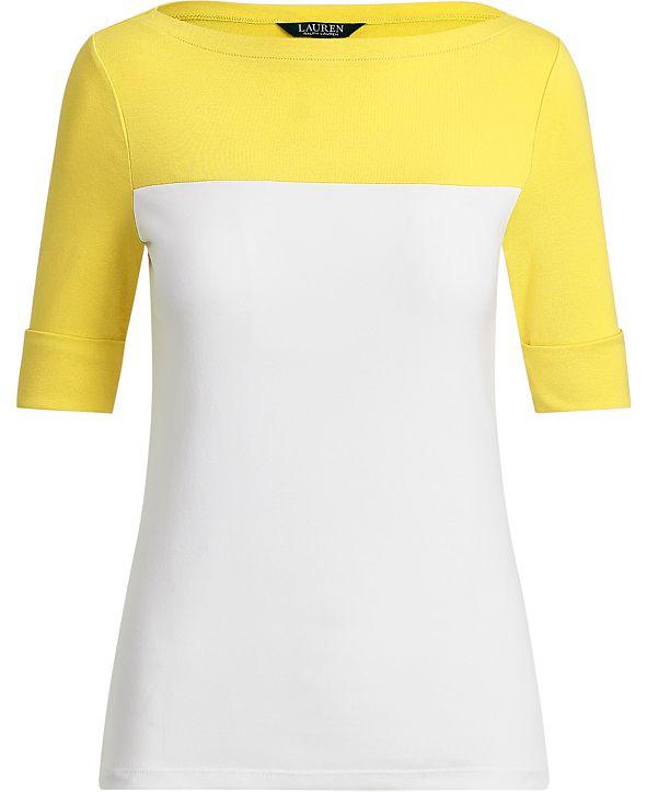Lauren Ralph Lauren Color-Blocked Top
