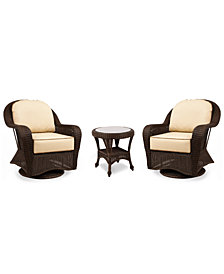 Monterey Outdoor 3-Pc. Set (2 Swivel Chairs & 1 End Table), Created for Macy's