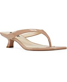 Manold Kitten-Heel Thong Sandals