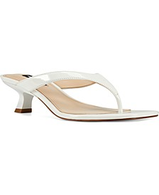 Manold Kitten-Heel Thong Sandals