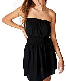 Woven Leslie Strapless Mini Dress