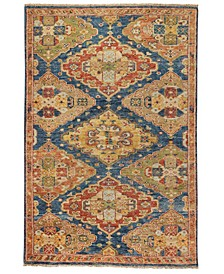 Charise-Kazak 455 Blue and Multi 9' x 12' Area Rug
