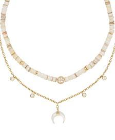 Make Waves Layered Crystal Necklace Set