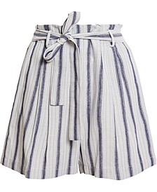 Striped Tie-Waist Shorts