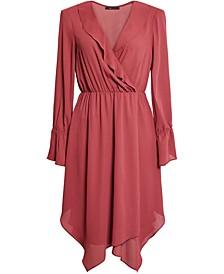Ruffled Handkerchief-Hem Dress
