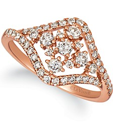 Nude Diamond Statement Ring (5/8 ct. t.w.) in 14k Rose Gold