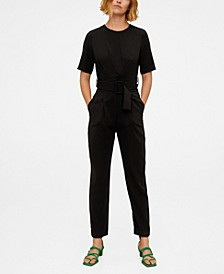 Ruched Long Jumpsuit