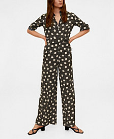 Mango Long Printed Jumpsuit