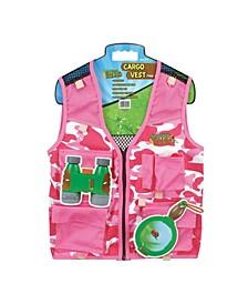 Nature Bound Pink Camouflage Explorer Kids Cargo Vest with 4 Pockets