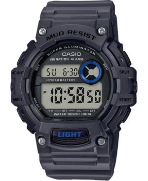 Men's Digital Gray Resin Strap Watch 48.4mm