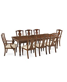 Orle Dining 9 pc Set  (Dining Table & 6 Side Chairs & 2 Arm Chairs), Created for Macy's