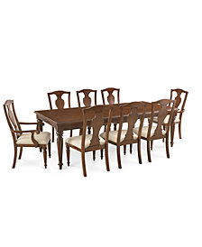 Orle Dining Furniture, 9 pc Set  (Dining Table & 6 Side Chairs & 2 Arm Chairs), Created for Macy's