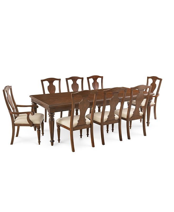Furniture Orle Dining Furniture, 9 pc Set  (Dining Table & 6 Side Chairs & 2 Arm Chairs), Created for Macy's