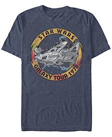 Men's Star Wars The Rise of Skywalker Vintage-Like Galaxy Tour Short Sleeve T-shirt
