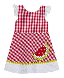Toddler Girls Watermelon Seersucker Dress