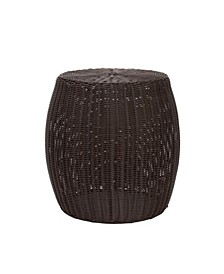 Household Essential Resin Wicker Side Table
