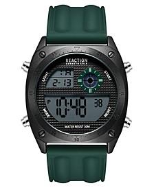 Men's Dress Sport Round Green Silicon Strap Watch  44mm