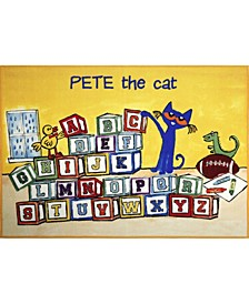 "Elementary Block Letters 3-Pelm03 Multi 4'11"" x 6'6"" Area Rug"