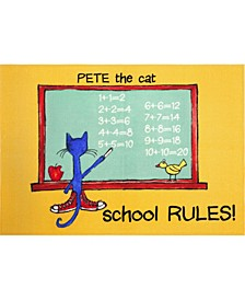 "Elementary School Rules 3-Pelm07 Multi 4'11"" x 6'6"" Area Rug"