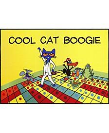 "Elementary Cool Cat Boogie 2-Pelm04 Multi 6'6"" x 9'5"" Area Rug"