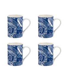 Blue Room Sunflower Mugs, Set of 4