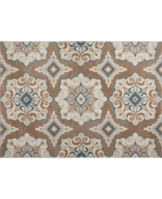 """Haven Hav11 Taupe and Blue 3'3"""" x 5'2"""" Area Rug"""