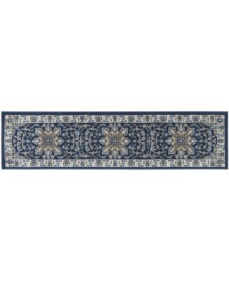 """Haven Hav09 Navy and Ivory 1'9"""" x 7'2"""" Runner Rug"""
