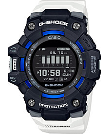 G-Shock Men's Connected Digital Power Trainer White Resin Strap Watch 49.3mm