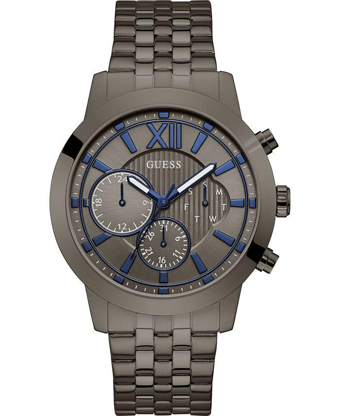 GUESS - Men's Gunmetal Stainless Steel Bracelet Watch 45mm