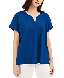 Petite Buttoned-Back Top, Created for Macy's