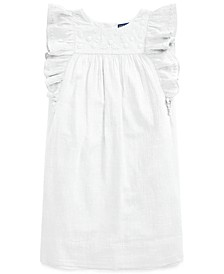 Toddler Girls Embroidered Gauze Dress