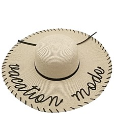 Vacation Mode Whipstitch Floppy Hat