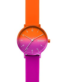 Women's Aaren Kulor Purple & Orange Silicone Strap Watch 36mm