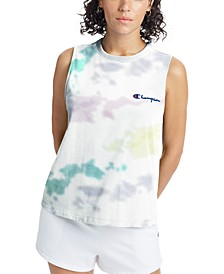 Women's Cotton The Boyfriend Tie-Dyed Tank Top