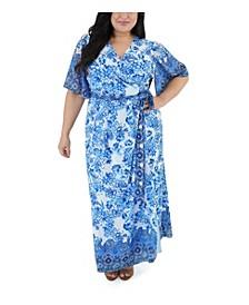 Border Printed Maxi Dress