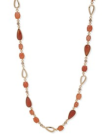 "Crystal & Stone 42"" Strand Necklace"