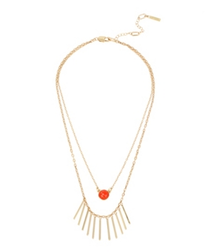 Kenneth Cole New York Gold-Tone Cabochon Double Row Necklace