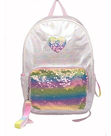 Iridescent Space Dye Oil Slick Backpack