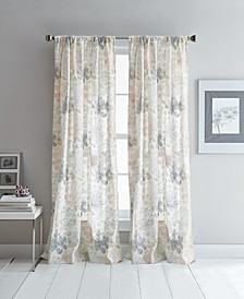 "Floral Fields 50"" x 96"" Poletop Curtain Set"