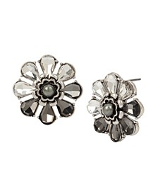 New York Stone Cluster Flower Stud Earrings