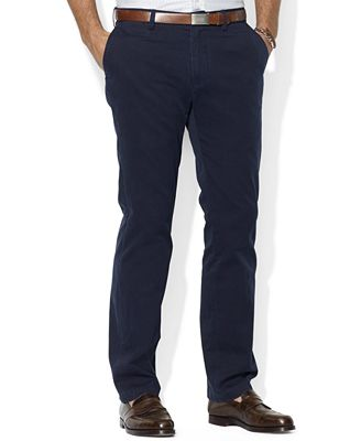 Polo Ralph Lauren Men's Core Pants, Classic-Fit Flat Front Chino ...