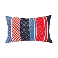 Deals on Small World Home 16x24-inch Stars & Stripe Pillow