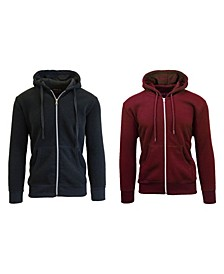 Men's 2-Packs Zip-Up Fleece Hoodies