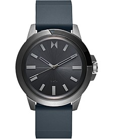Men's Minimal Sport Gray Silicone Strap Watch 45mm