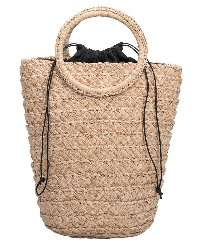 Melie Bianco - Tiffany Medium Straw Bucket