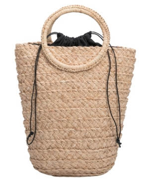 Crafted by hand, our Tiffany top handle straw bag is your perfect companion for a day at the beach or the park. The epitome of summer style, featuring a drawstring closure and circular top handle. Spacious enough to fit an iPad and most tablets. Made of eco-friendly straw.